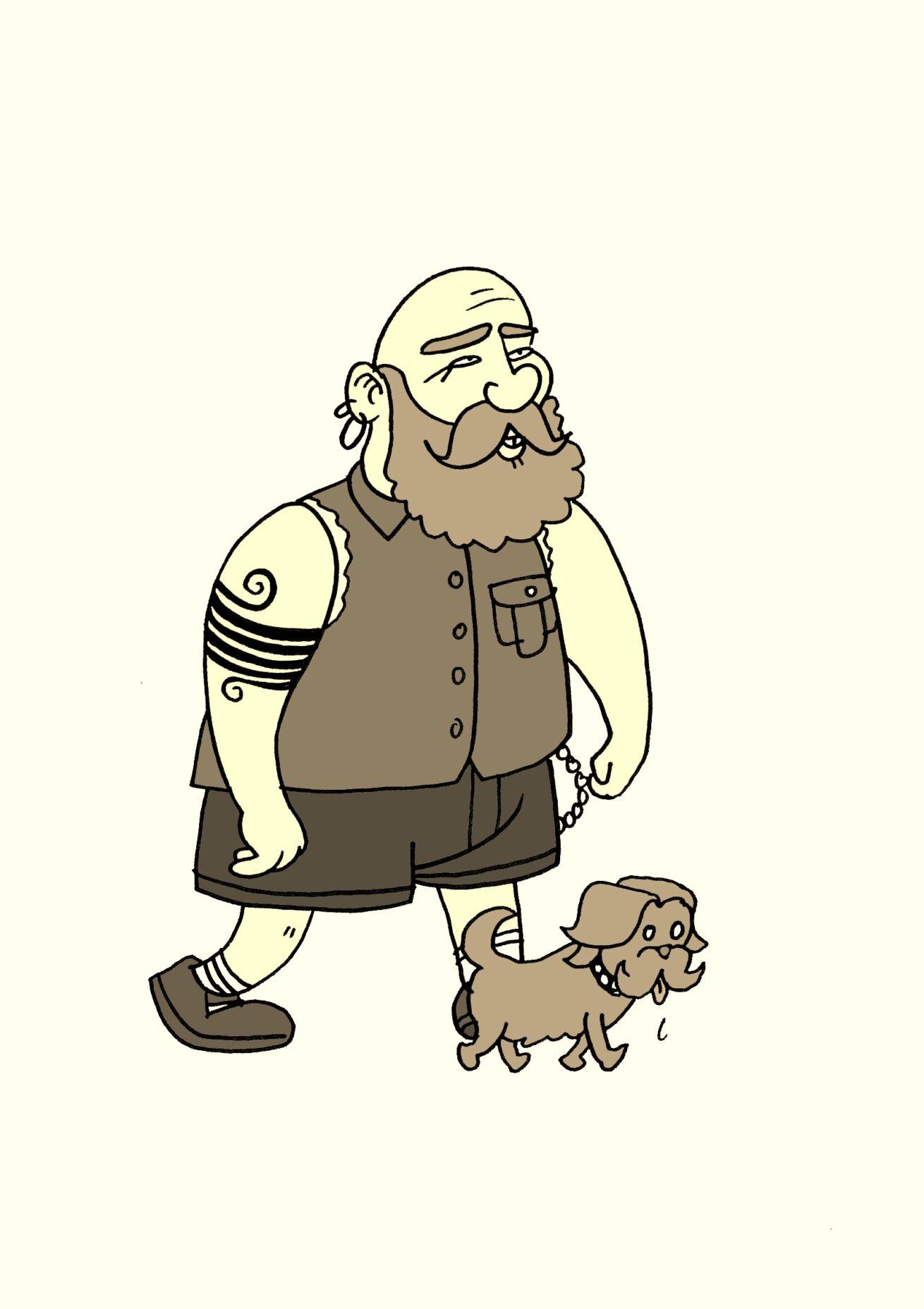 hipster hund Kopie
